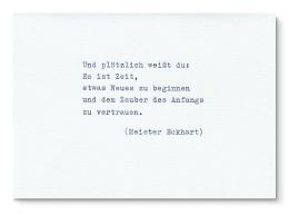 type.MANUFAKTUR Karte Meister Eckhart