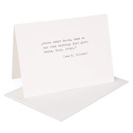 type.MANUFAKTUR Briefkarte Leo N. Tolstoi
