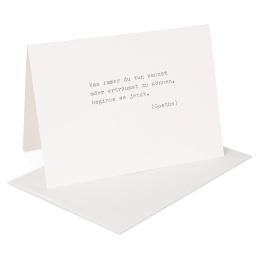 type.MANUFAKTUR Briefkarte Goethe