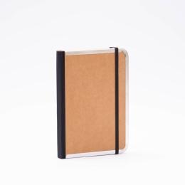 Adressbuch BASIC natur-braun | 12 x 16,5 cm, 48 Blatt