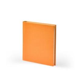 Adressbuch LEINEN orange | 11 x 13,5 cm, 64 Blatt