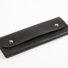 Federmäppchen Leder schwarz