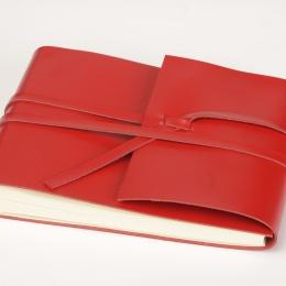 Fotoalbum CIRCUM rot | 30 x 30 cm, 30 Blatt chamois