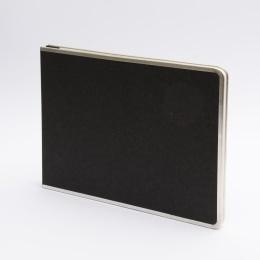 Fotoalbum geschraubt BASIC schwarz | 32 x 22,5 cm, 20 Blatt chamois