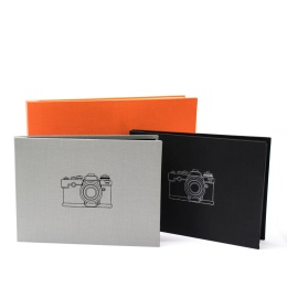 Post Bound Photo Album CAMERA jade | 32 x 22,5 cm, 20 sheet black