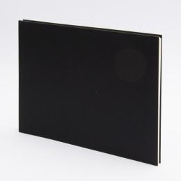 Fotoalbum geschraubt LEINEN schwarz   32 x 22,5 cm, 20 Blatt chamois