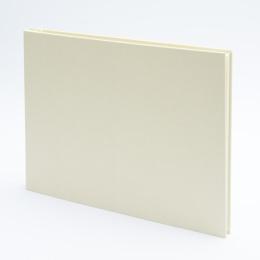 Fotoalbum geschraubt LEINEN vanille | 32 x 22,5 cm, 20 Blatt chamois