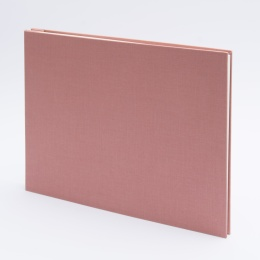 Fotoalbum geschraubt LEINEN altrosa | 32 x 22,5 cm, 20 Blatt chamois
