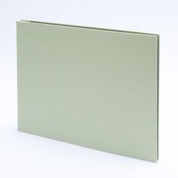 Fotoalbum geschraubt LEINEN blassgrün | 32 x 22,5 cm, 20 Blatt chamois