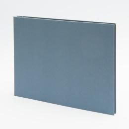 Fotoalbum geschraubt LEINEN nachtblau | 32 x 22,5 cm, 20 Blatt schwarz
