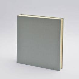 Fotoalbum LEINEN hellgrau | 30 x 30 cm, 30 Blatt chamois