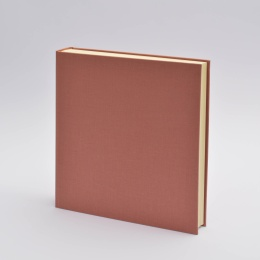 Fotoalbum LEINEN altrosa | 30 x 30 cm, 30 Blatt chamois