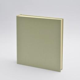 Fotoalbum LEINEN blassgrün | 30 x 30 cm, 30 Blatt chamois