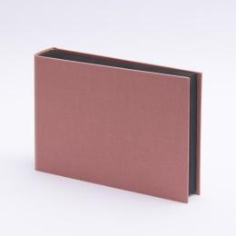 Fotoalbum LEINEN altrosa   20,5 x 15 cm, 30 Blatt schwarz