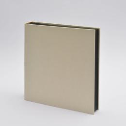 Fotoalbum LEINEN vanille | 30 x 30 cm, 30 Blatt schwarz