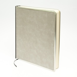 Gästebuch BASIC hellgrau | 24 x 28 cm, 144 Blatt blanko