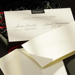 Der BINDEWERK Geschenkgutschein 25 Euro