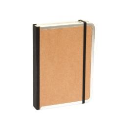 Kalender BASIC natur-braun | 8 x 12,5 cm,  1 Woche/Doppelseite