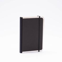 Kalender BASIC schwarz | 12 x 16,5 cm,  1 Woche/Doppelseite