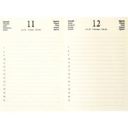 Kalender CIRCUM hellbraun | 12 x 16,5 cm,  1 Tag/Seite