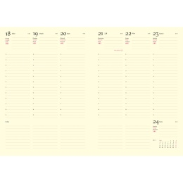 Kalender 2021 CLASSIC hellgrau   17 x 24 cm,  1 Woche/Doppelseite