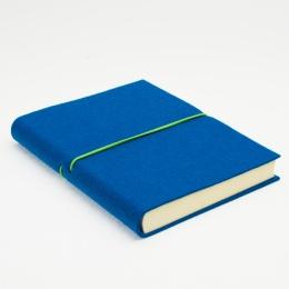 Kalender FILZDUETT Filz dunkeltürkis/Gummi grün | 12 x 16,5 cm,  1 Woche/Doppelseite