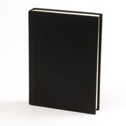 Kalender LEINEN schwarz   8 x 12,5 cm,  1 Woche/Doppelseite