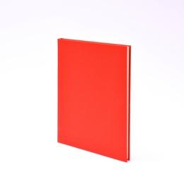 Kalender LEINEN rot | 17 x 24 cm,  1 Woche/Doppelseite