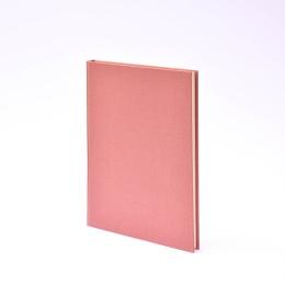 Kalender LEINEN altrosa | 17 x 24 cm,  1 Woche/Doppelseite