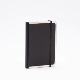 Wochenplaner BASIC schwarz | 12 x 16,5 cm,  1 Woche/Doppelseite