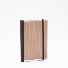 Wochenplaner BASIC WOOD Nuss | 12 x 16,5 cm,  1 Woche/Doppelseite