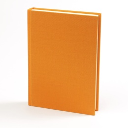 Wochenplaner LEINEN orange | 12 x 16,5 cm,  1 Woche/Doppelseite
