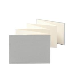 Leporello LEINEN hellgrau | 18 x 13 cm, Querformat, für 14 Fotos chamois