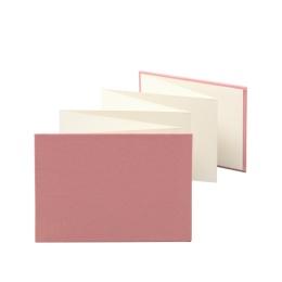 Leporello LEINEN dusky pink | 18 x 13 cm, landscape format, for 14 photos cream