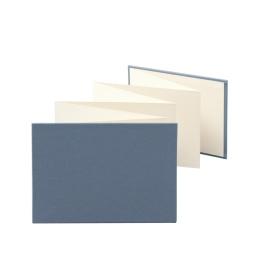 Leporello LEINEN nachtblau | 18 x 13 cm, Querformat, für 14 Fotos chamois