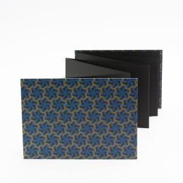 Leporello OLIVIA Paris | 18 x 13 cm, Querformat, für 14 Fotos schwarz