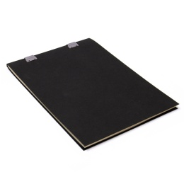 Note Pad CLIPPER black | A4, 50 sheet blank, 90 g