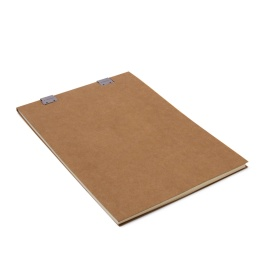 Notizblock CLIPPER natur-braun | DIN A4, 50 Blatt blanko, 90 g