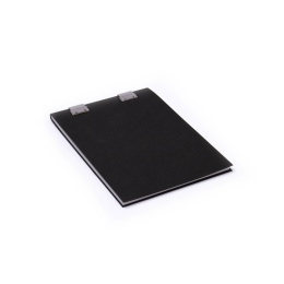 Notizblock CLIPPER schwarz | DIN A5, 50 Blatt blanko, 90 g