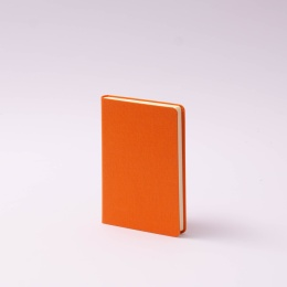 Notizbuch LEINEN orange | 9 x 14 cm, 96 Blatt blanko