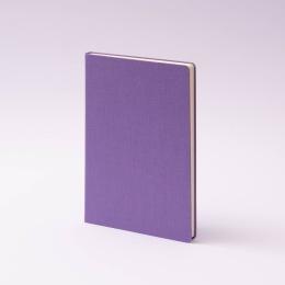 Notizbuch LEINEN flieder | DIN A 5, 96 Blatt liniert