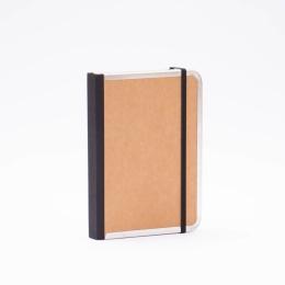Notizbuch BASIC natur-braun | 12 x 16,5 cm, 144 Blatt Punktraster