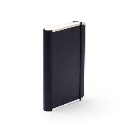 Notizbuch BASIC LEATHER schwarz | DIN A5, 144 Blatt blanko