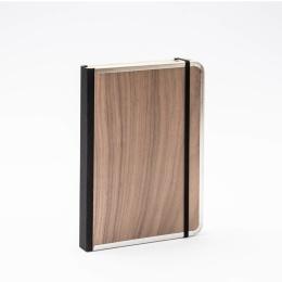 Notizbuch BASIC WOOD Nuss | DIN A5, 144 Blatt blanko