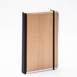 Notizbuch BASIC WOOD Kirsche | DIN A4, 96 Blatt liniert