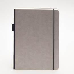 Notizbuch ILLUSTRATOR hellgrau | DIN A 4, 96 Blatt Punktraster