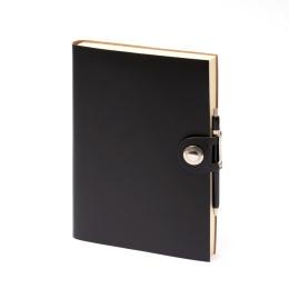 Notizbuch LEFA schwarz | DIN A5, 144 Blatt blanko