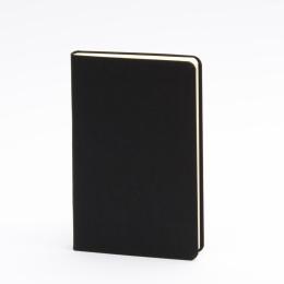 Notizbuch LEINEN schwarz   9 x 14 cm, 96 Blatt blanko