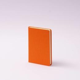 Notebook LEINEN orange | 9 x 14 cm, 96 sheet blank
