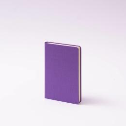 Notizbuch LEINEN flieder | 9 x 14 cm, 96 Blatt blanko